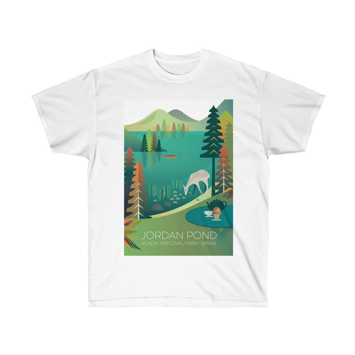 JORDAN POND UNISEX ULTRA COTTON TEE