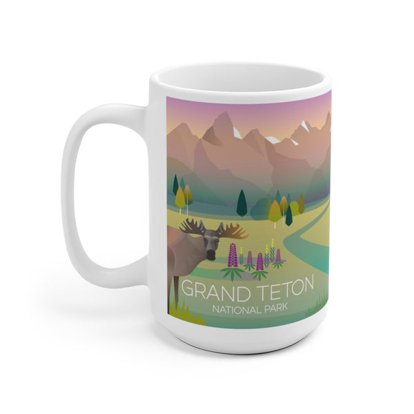 GRAND TETON NATIONAL PARK 15 OZ CERAMIC MUG