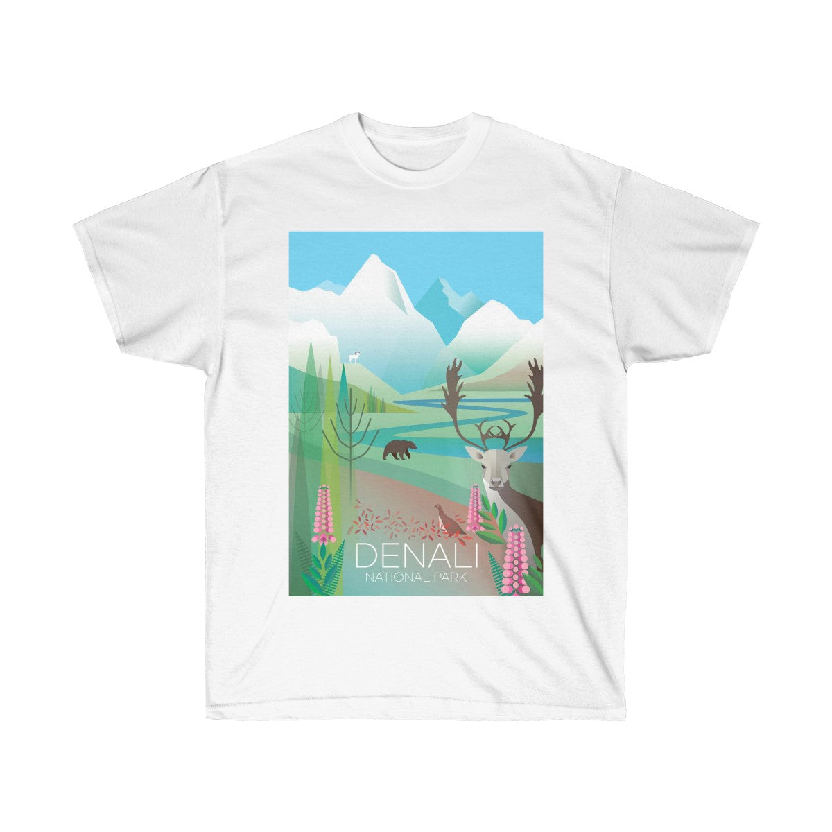 DENALI NATIONAL PARK UNISEX ULTRA COTTON TEE