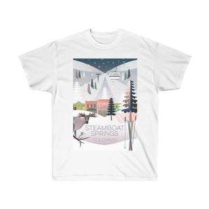 STEAMBOAT SPRINGS UNISEX ULTRA COTTON TEE