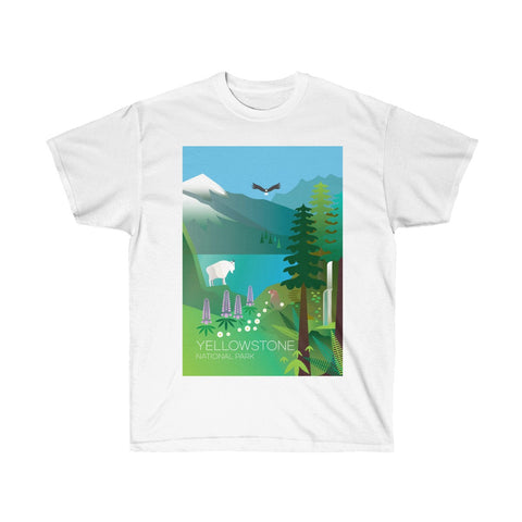 YELLOWSTONE NATIONAL PARK UNISEX ULTRA COTTON TEE