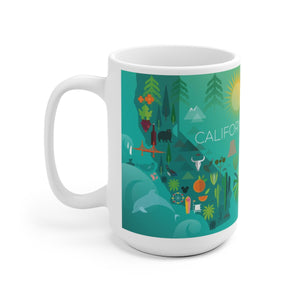 CALIFORNIA 15 OZ CERAMIC MUG