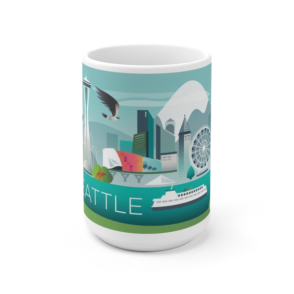 SEATTLE 15 OZ CERAMIC MUG