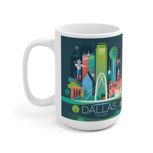 DALLAS 15 OZ CERAMIC MUG