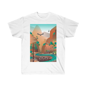 ZION NATIONAL PARK UNISEX ULTRA COTTON TEE