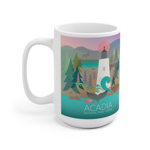 ACADIA NATIONAL PARK 15 OZ CERAMIC MUG