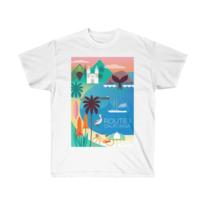 ROUTE 1 UNISEX ULTRA COTTON TEE