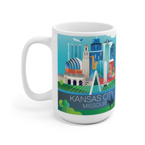 KANSAS CITY 15 OZ CERAMIC MUG