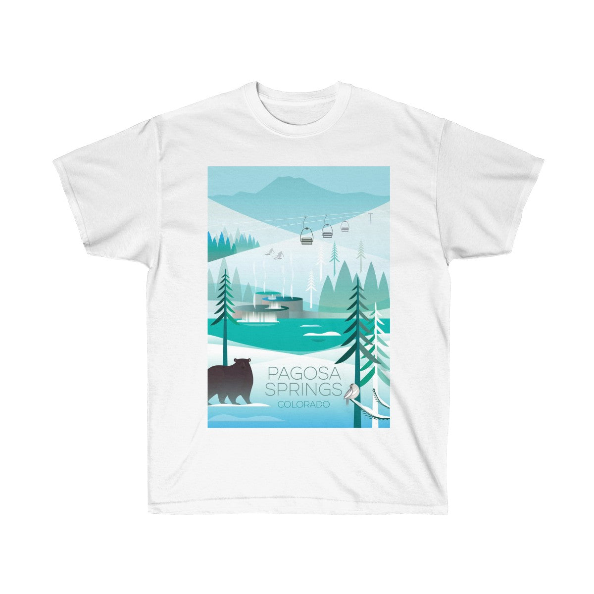 PAGOSA SPRINGS UNISEX ULTRA COTTON TEE