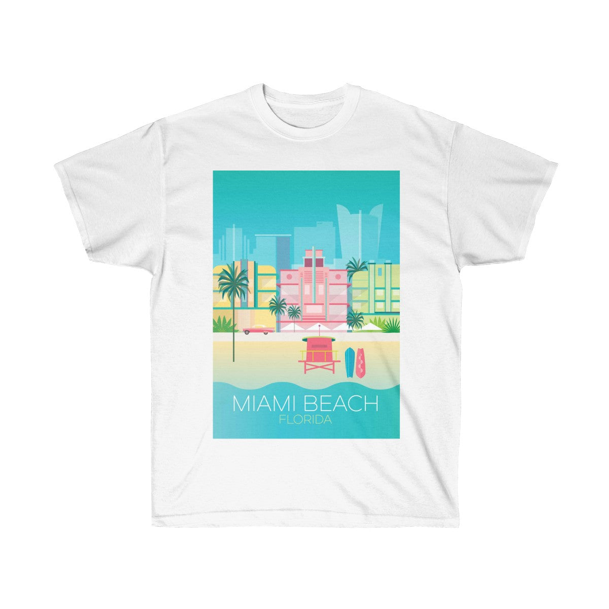 MIAMI BEACH UNISEX ULTRA COTTON TEE