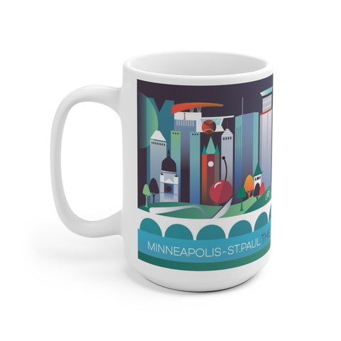 MINNEAPOLIS-ST. PAUL 15 OZ CERAMIC MUG