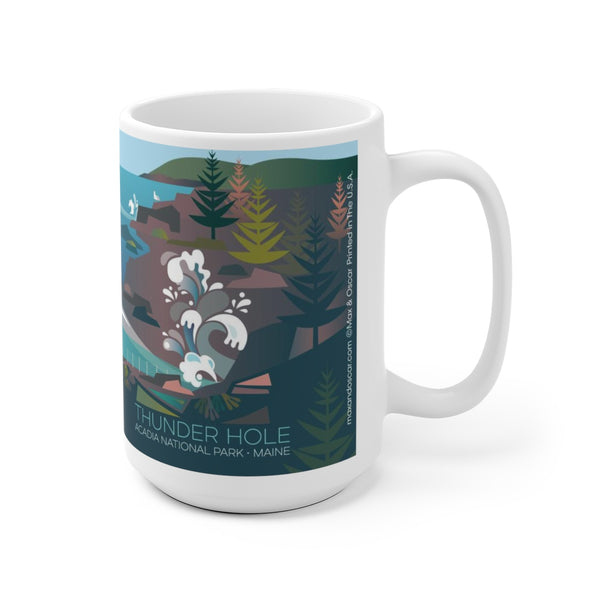 ACADIA NATIONAL PARK, THUNDER HOLE 15 OZ CERAMIC MUG