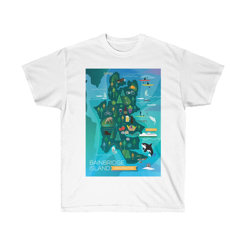 BAINBRIDGE ISLAND UNISEX ULTRA COTTON TEE