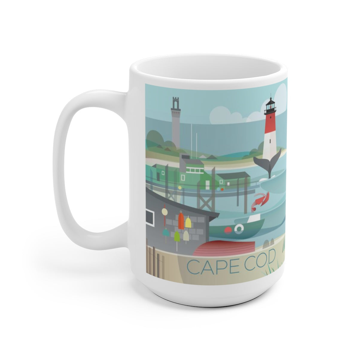 CAPE COD 15 OZ CERAMIC MUG