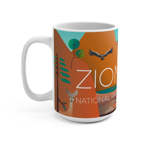 ZION NATIONAL PARK 15 OZ CERAMIC MUG