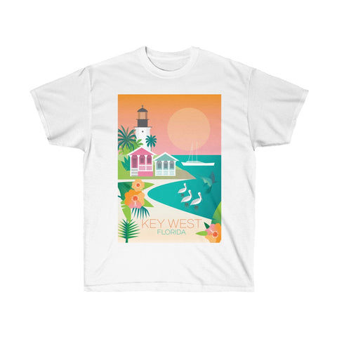 KEY WEST UNISEX ULTRA COTTON TEE