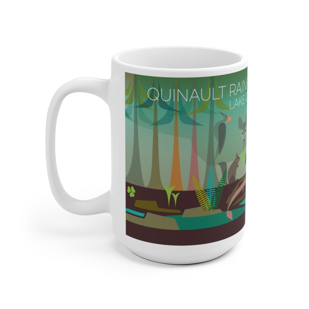 QUINAULT RAINFOREST 15 OZ CERAMIC MUG