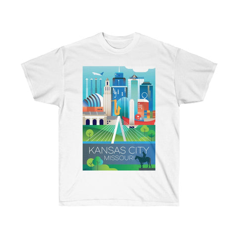 KANSAS CITY UNISEX ULTRA COTTON TEE