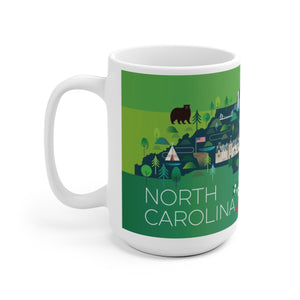 NORTH CAROLINA 15 OZ CERAMIC MUG