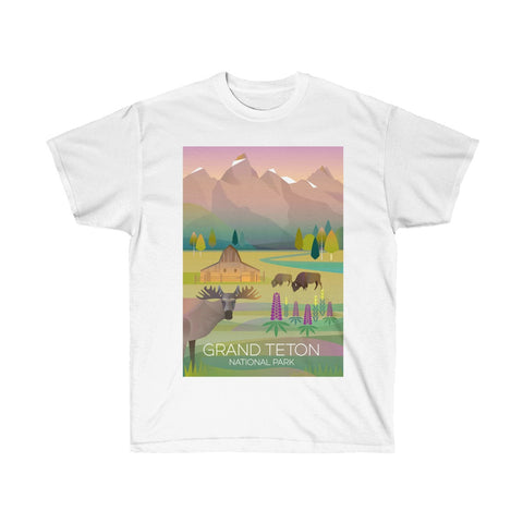 GRAND TETON NATIONAL PARK UNISEX ULTRA COTTON TEE