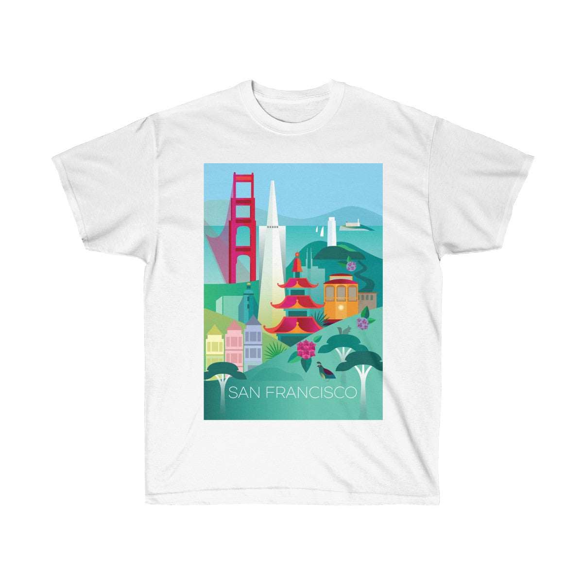 SAN FRANCISCO UNISEX ULTRA COTTON TEE