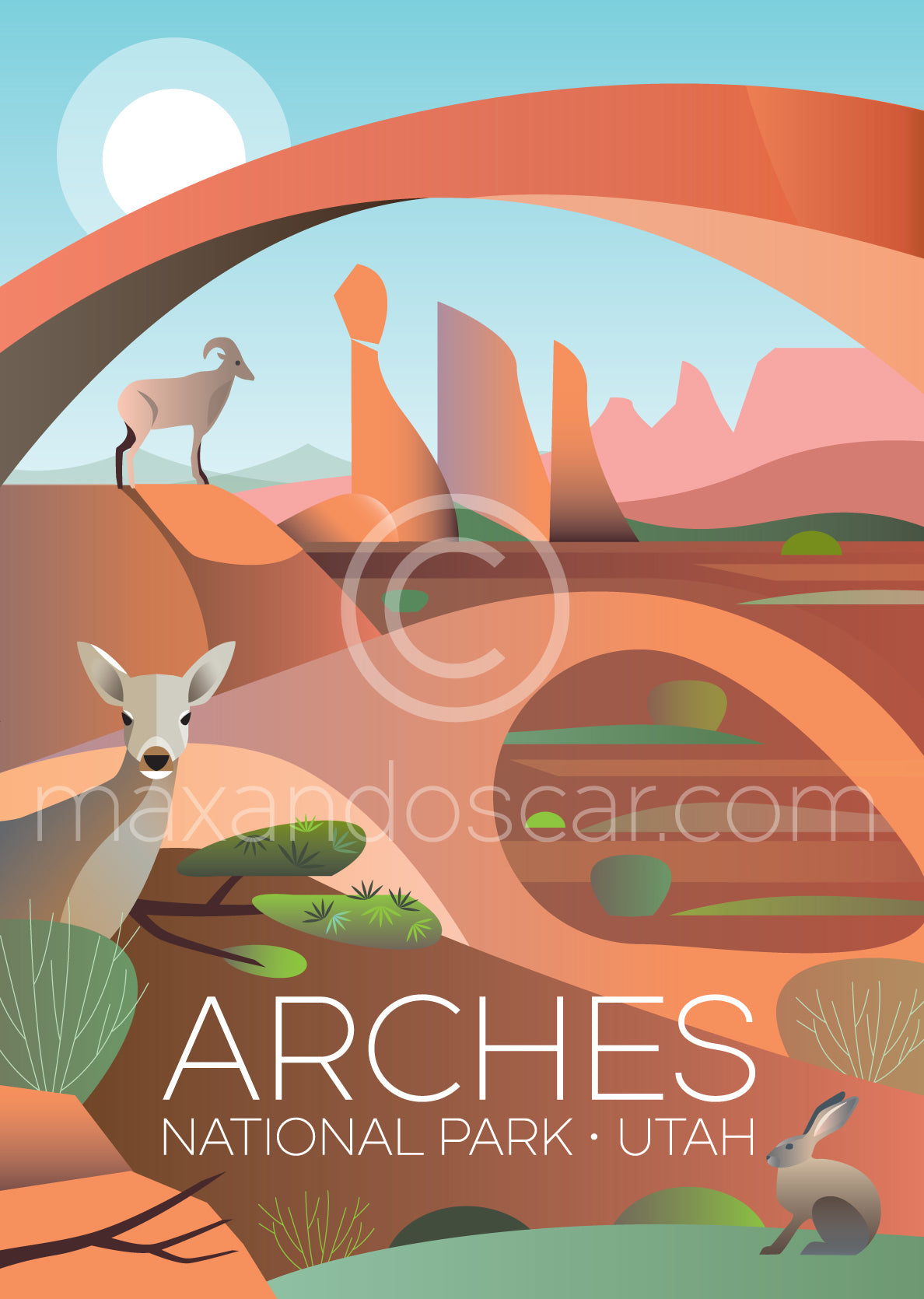 ARCHES NATIONAL PARK PRINT
