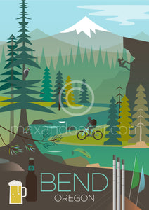 BEND, OREGON PRINT