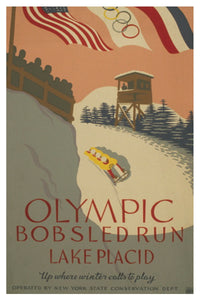 OLYMPIC BOBSLED RUN, LAKE PLACID POSTAL CARD