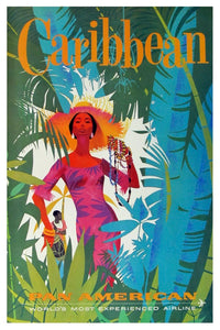 CARIBBEAN PAN AM POSTAL CARD