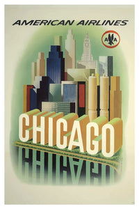 CHICAGO AMERICAN AIRLINES POSTAL CARD