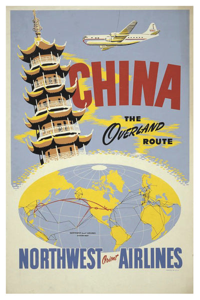 CHINA NORTHWEST ORIENT AIRLINES POSTAL CARD