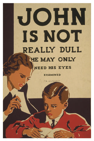 JOHN IS NOT REALLY DULL WPA POSTAL CARD