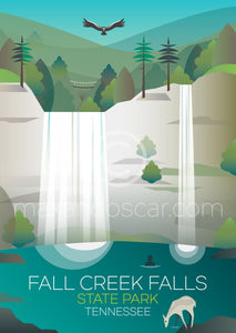 FALL CREEK FALLS STATE PARK PRINT