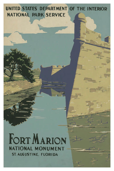 FORT MARION POSTAL CARD