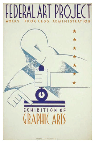 GRAPHIC ARTS EXHIBITION WPA POSTAL CARD