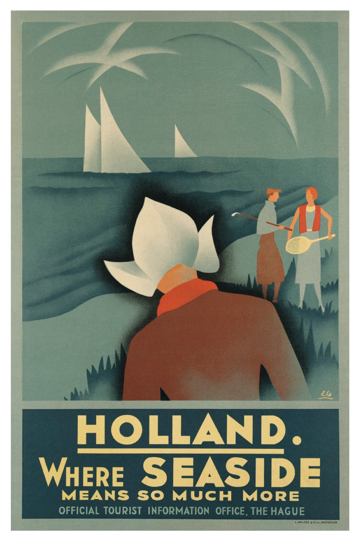 HOLLAND SEASIDE POSTAL CARD