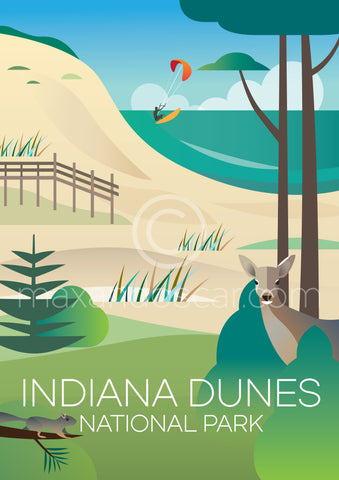 INDIANA DUNES NATIONAL PARK PRINT