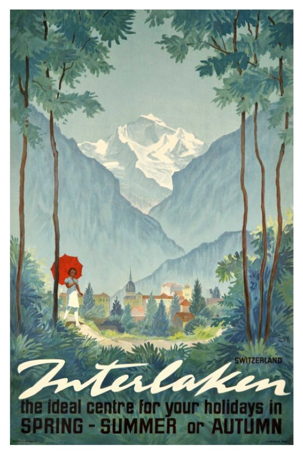 INTERLAKEN POSTAL CARD