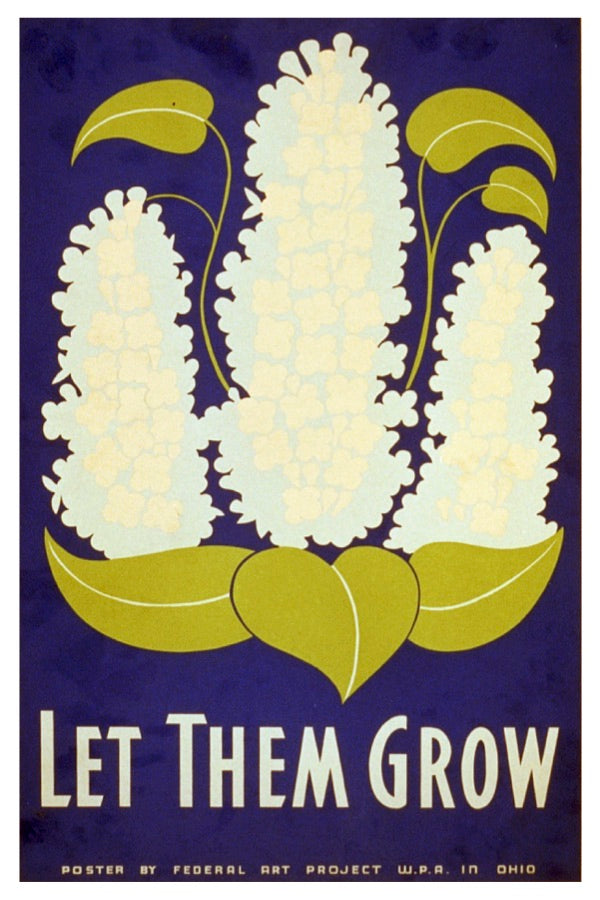LET THEM GROW WPA POSTAL CARD