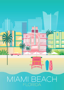 MIAMI BEACH POSTCARD