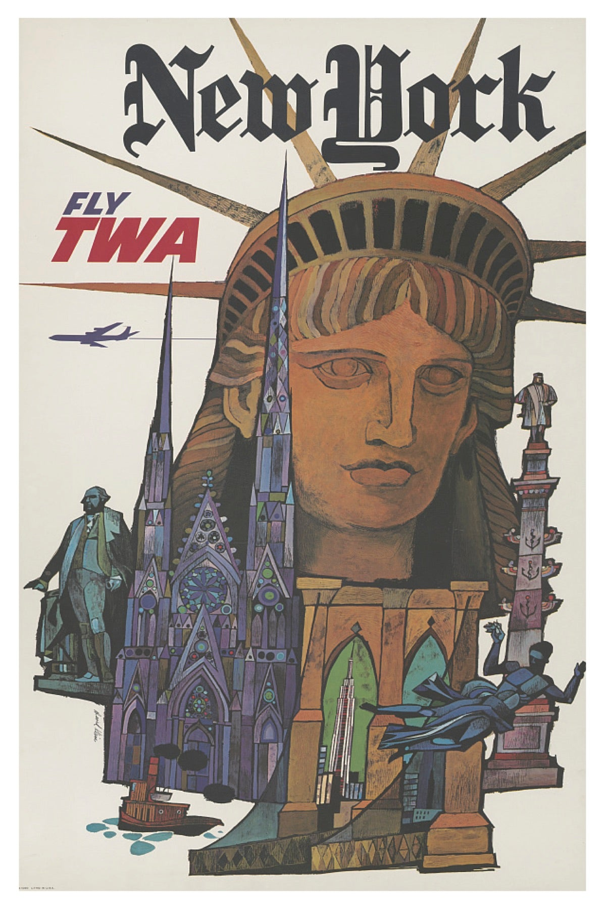 NEW YORK CITY TWA POSTAL CARD