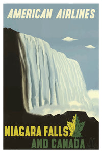 NIAGARA FALLS AND CANADA AMERICAN AIRLINES POSTAL CARD