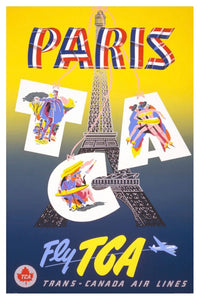 PARIS TCA POSTAL CARD