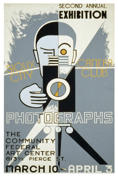 PHOTOGRAPHS SIOUX CITY CAMERA CLUB WPA POSTAL CARD