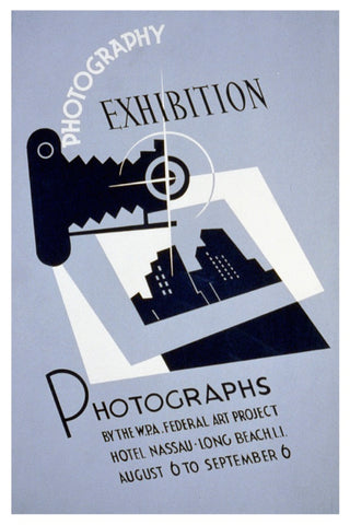 PHOTOGRAPHY EXHIBITION WPA POSTAL CARD