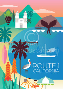 ROUTE 1 CALIFORNIA PRINT