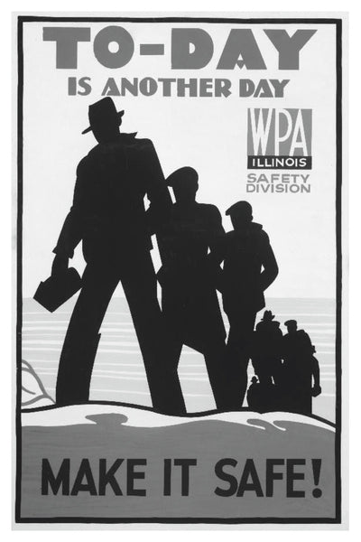 TODAY IS ANOTHER DAY WPA POSTAL CARD