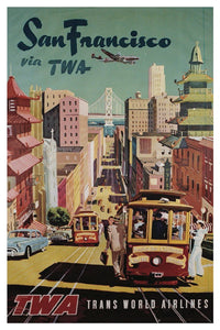 SAN FRANCISCO TWA POSTAL CARD