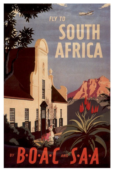 SOUTH AFRICA BOAC SAA POSTAL CARD