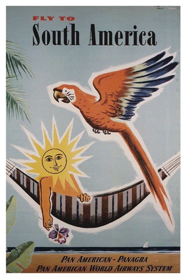 SOUTH AMERICA PAN AM POSTAL CARD